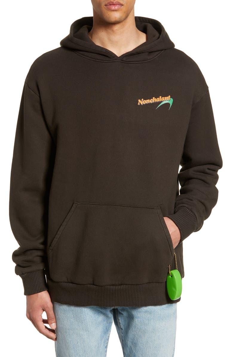 PASADENA LEISURE CLUB Nonchalant Hoodie, Main, color, FADED BLACK