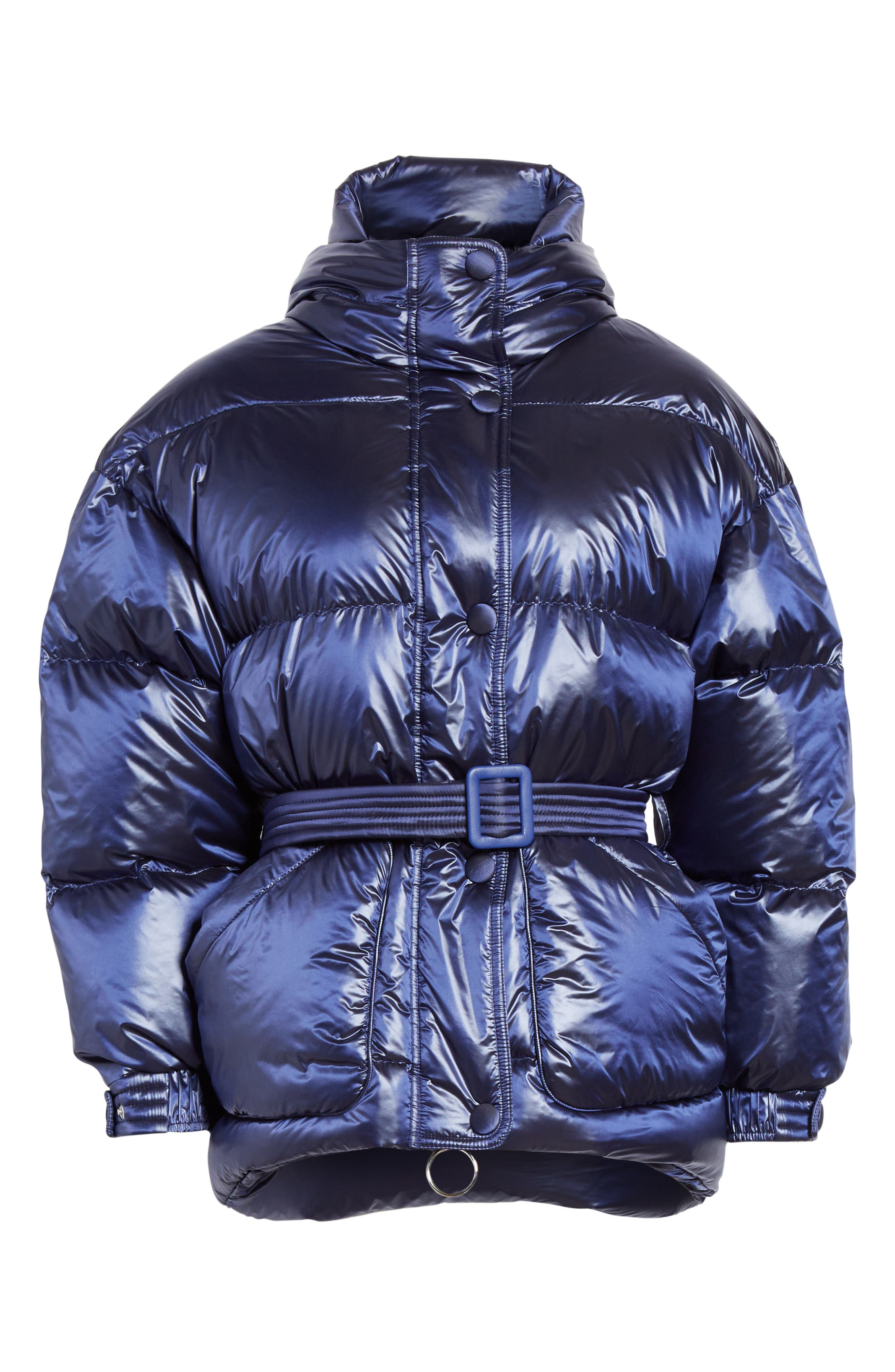,                             Michelin Hooded Down Puffer Coat,                             Alternate thumbnail 13, color,                             401