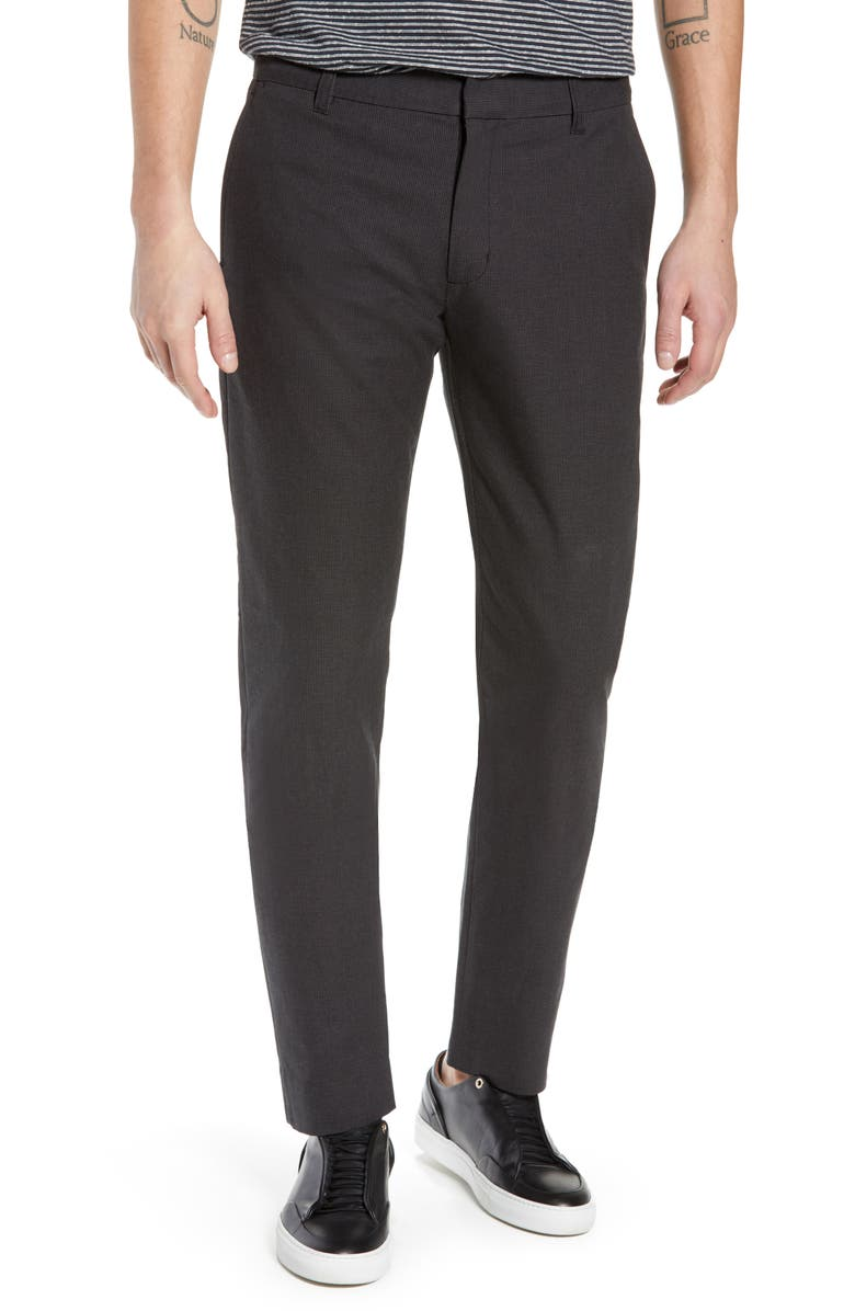 Vince Griffith Slim Fit Microgrid Pants Nordstrom