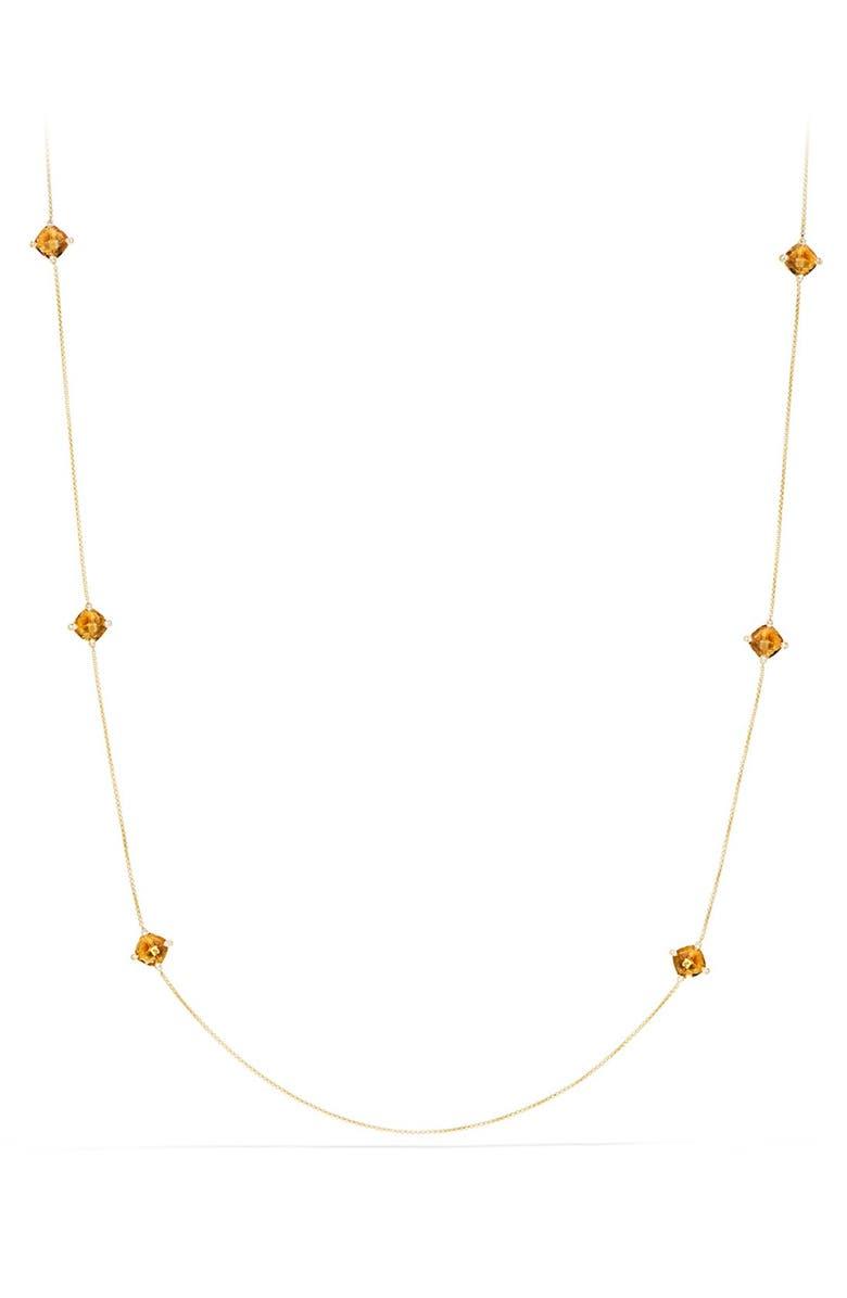 DAVID YURMAN 'Châtelaine' Long Semiprecious Stone Necklace with Diamonds, Main, color, 800