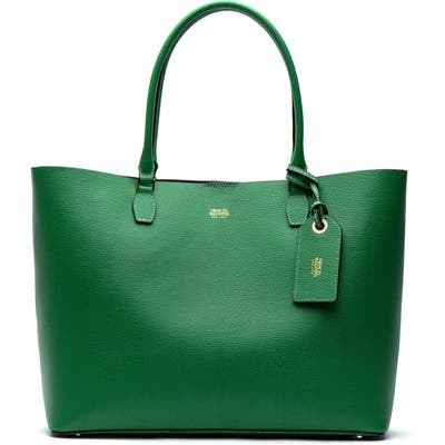 Frances Valentine Trixie Boarskin Leather Tote - Green