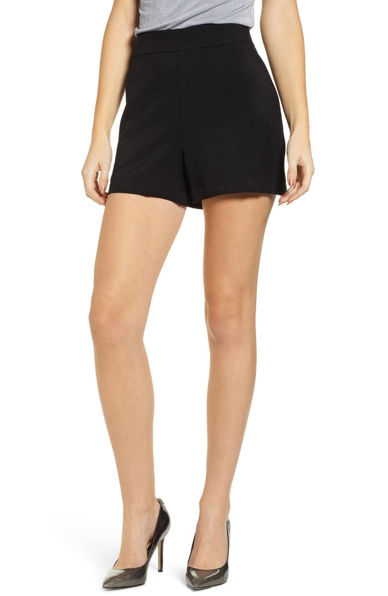 LEITH High Waist Shorts, Main, color, 001
