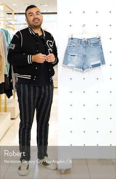 The Momjean Distressed High Waist Shorts, sales video thumbnail