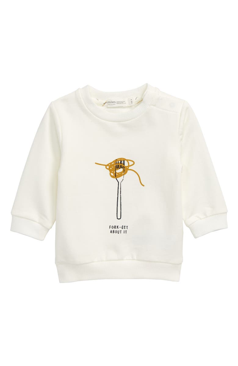 MILES BABY Graphic Sweatshirt, Main, color, OFF WHITE
