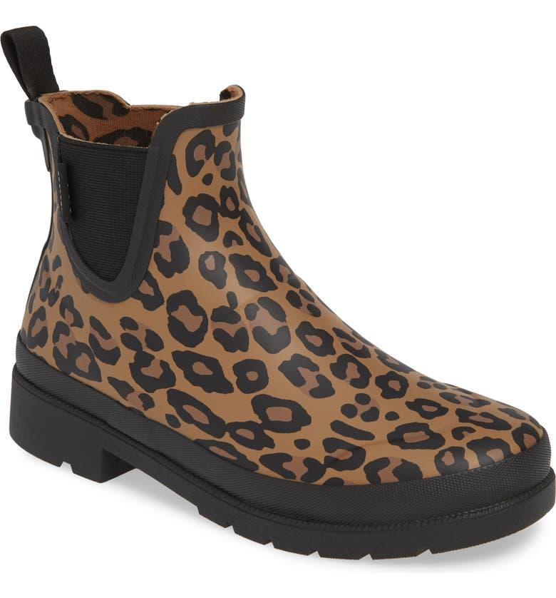 TRETORN Lina 2 Waterproof Chelsea Rain Boot, Main, color, BLACK RUBBER