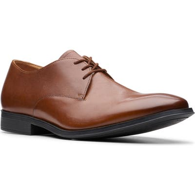Clarks Gilman Walk Plain Toe Derby, Brown