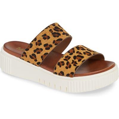 Mia Lexi Platform Slide Sandal, Brown