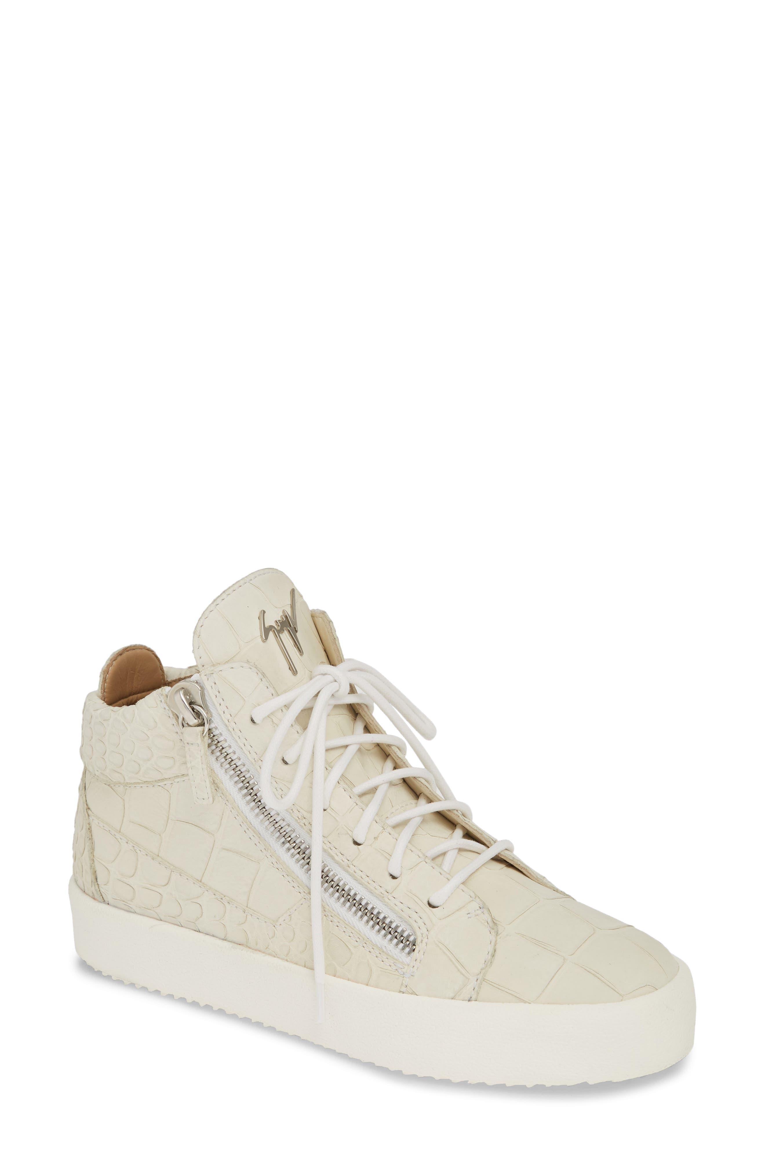 Giuseppe Zanotti May London Sneaker, Ivory
