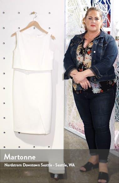 Danita Faux Wrap Ponte Sheath Dress, sales video thumbnail