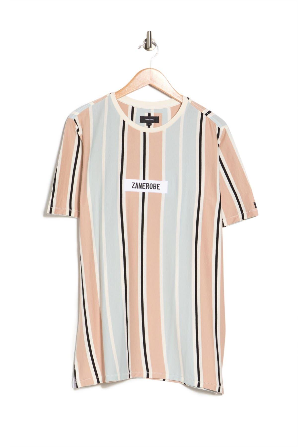 Image of Zanerobe Split Stripe Print T-Shirt
