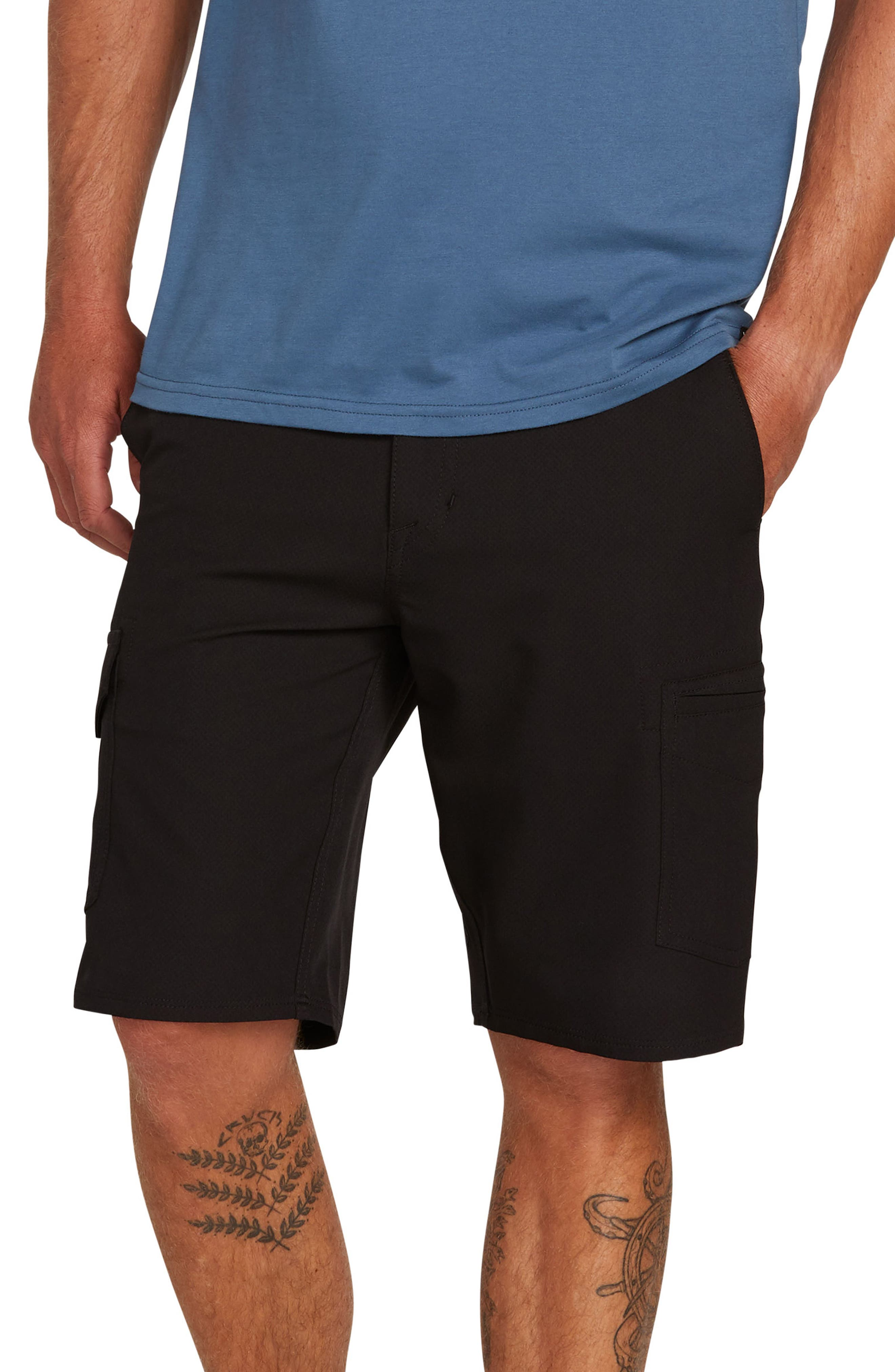 Surf N' Turf Dry Hybrid Cargo Shorts, Main, color, BLACK OUT
