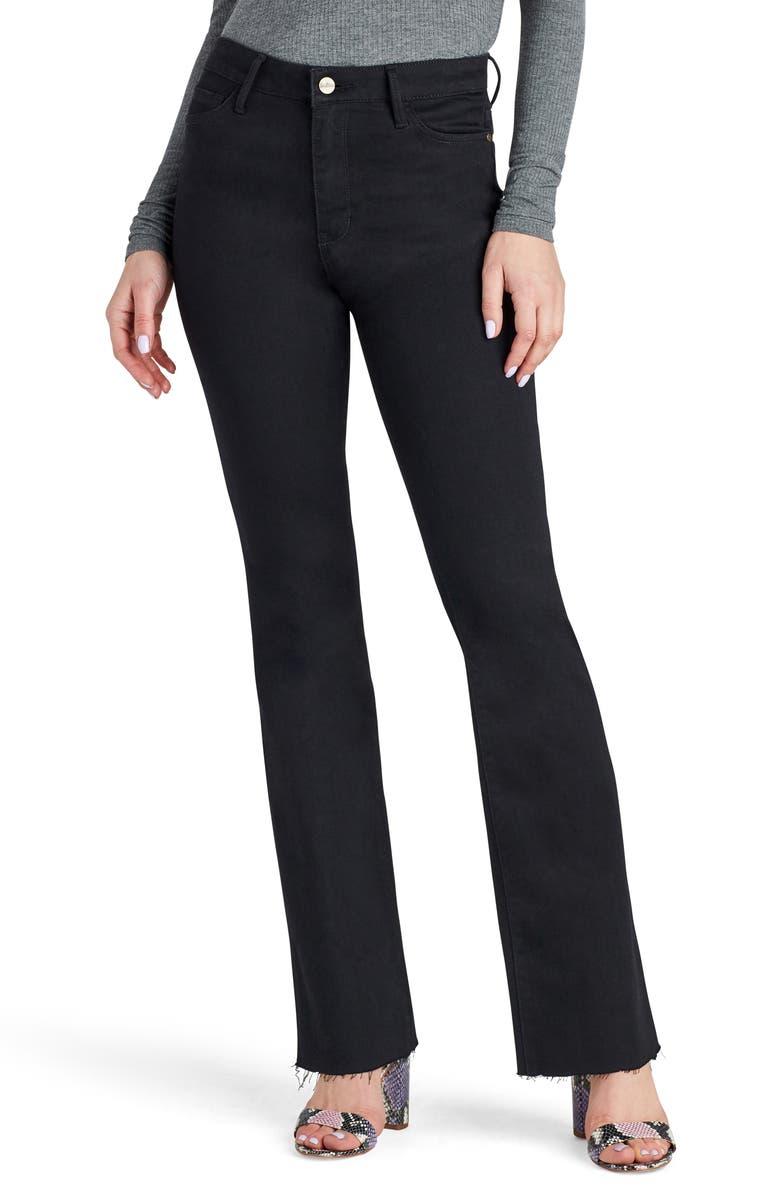 SAM EDELMAN The Stiletto High Waist Raw Hem Bootcut Jeans, Main, color, MERCEDES