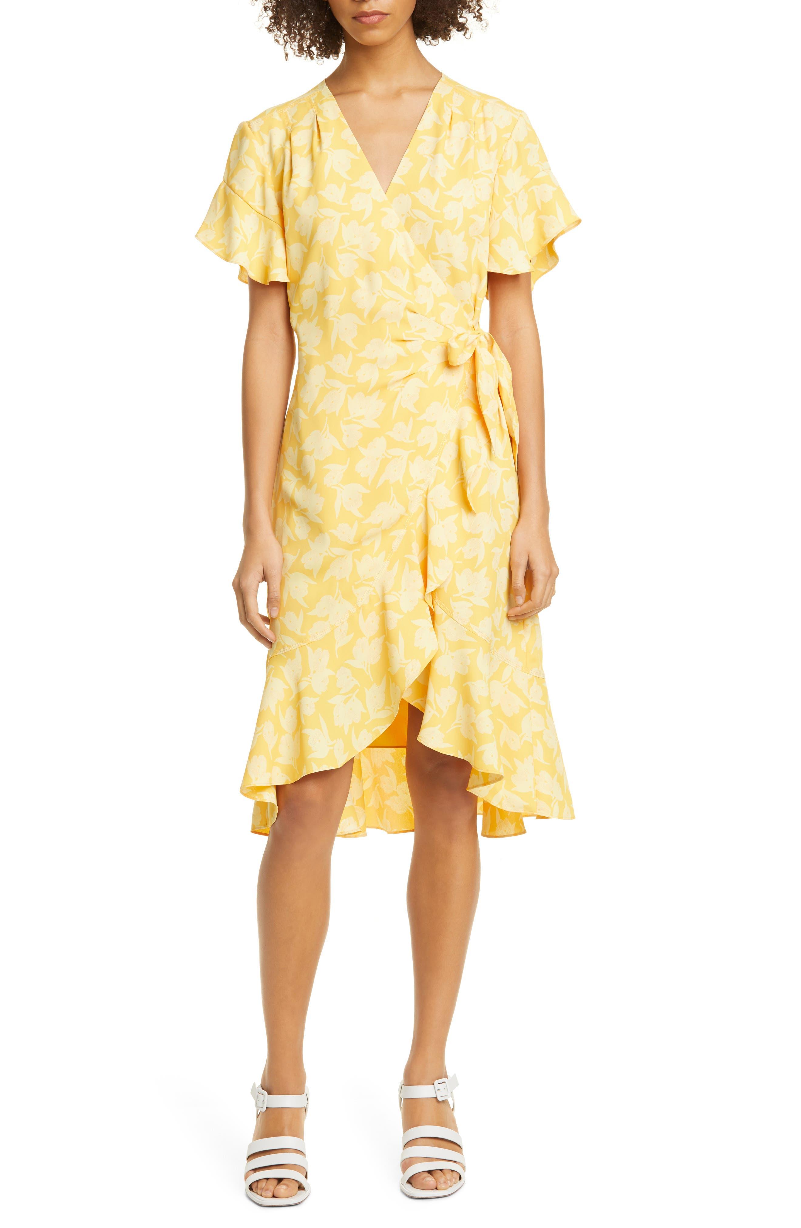 Image of Joie Amelian Floral Print Wrap Dress