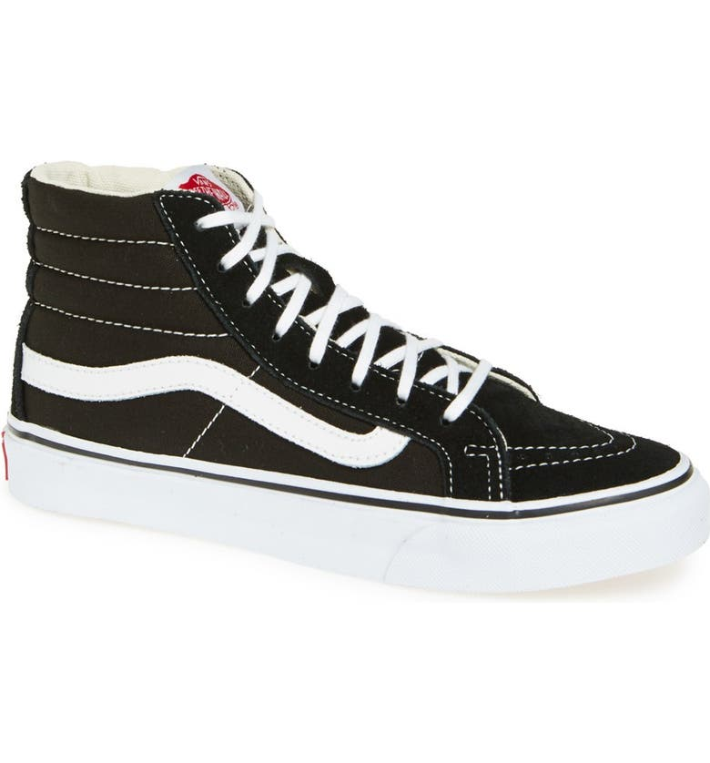 e4a672651 Sk8-Hi Slim High Top Sneaker, Main, color, BLACK TRUE WHITE