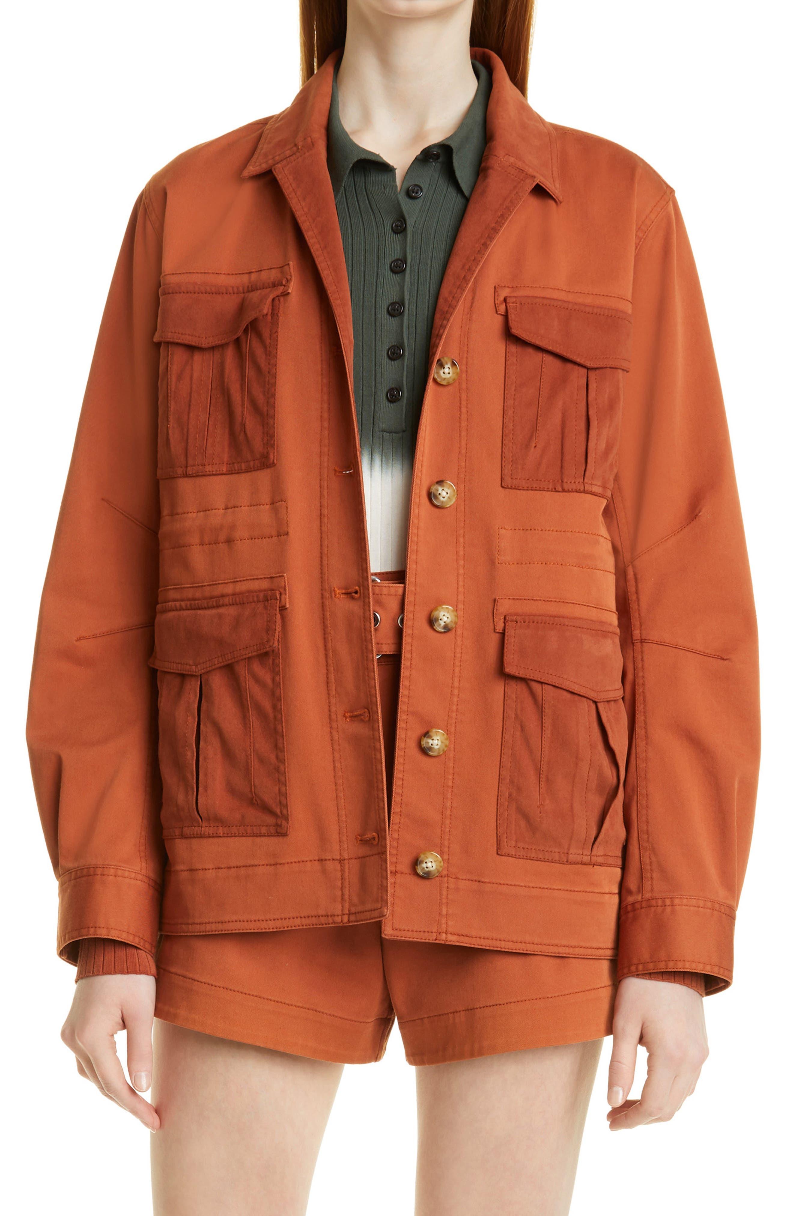 Alison Cotton Blend Utility Jacket