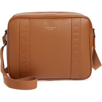 Ted Baker London Tabla Dispatch Faux Leather Messenger Bag - Beige
