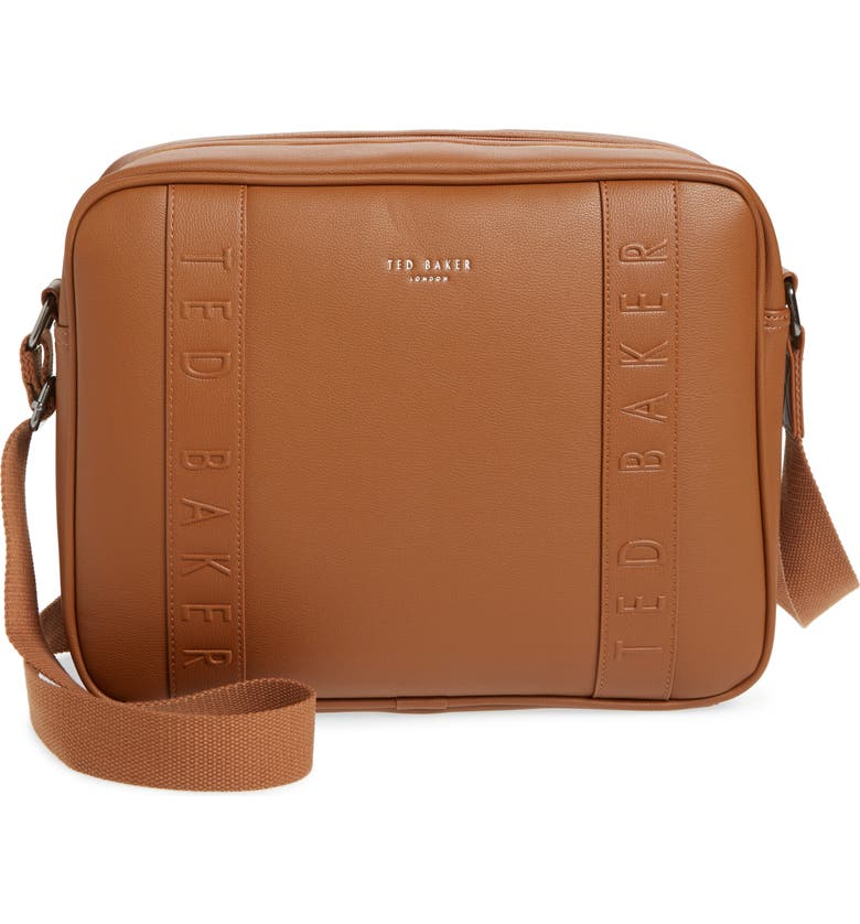 TED BAKER LONDON Tabla Dispatch Faux Leather Messenger Bag, Main, color, 250