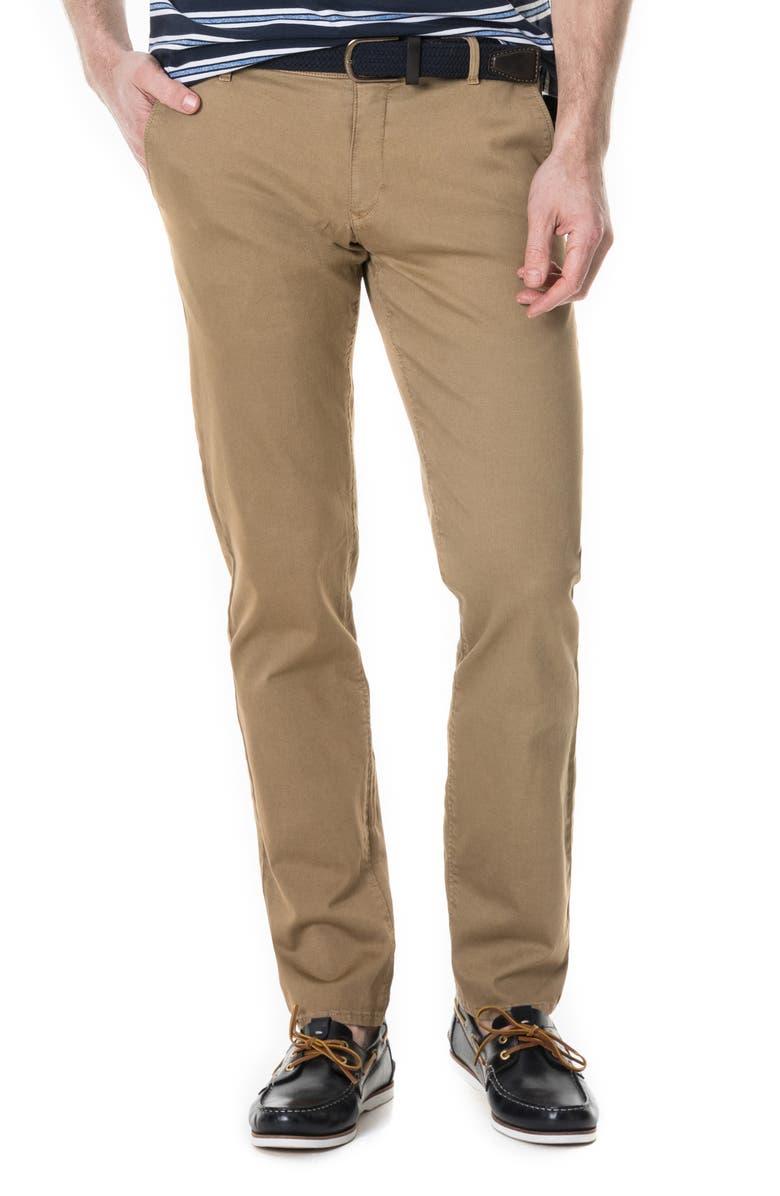 RODD & GUNN Fenwick Custom Straight Leg Chinos, Main, color, CAMEL