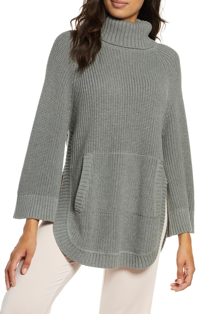UGG<SUP>®</SUP> Raelynn Turtleneck Pullover, Main, color, GREY HEATHER