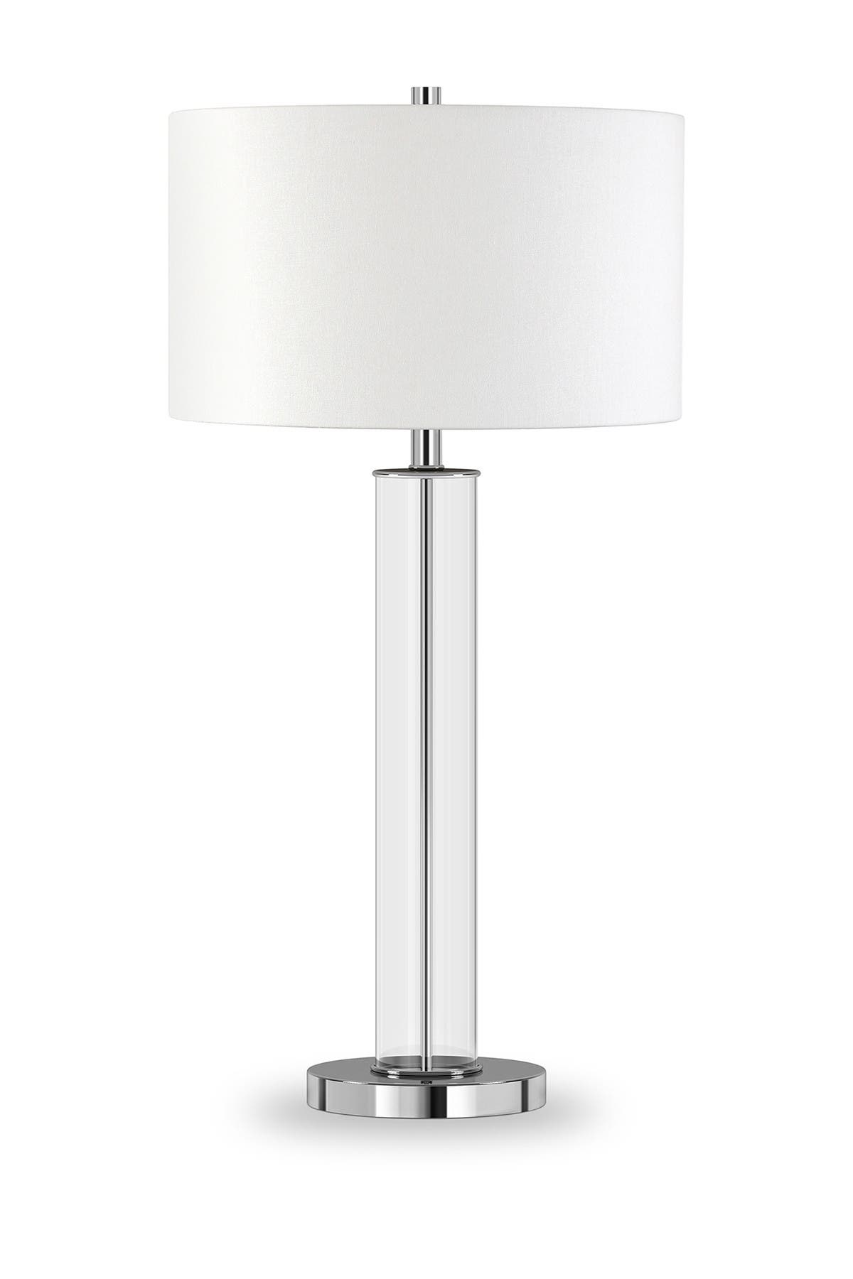 Picture of: Addison And Lane Harlow Polished Nickel And Clear Glass Table Lamp Nordstrom Rack