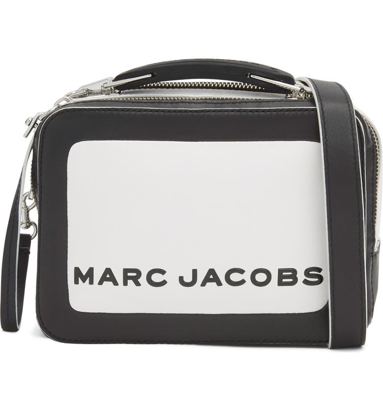 THE MARC JACOBS The Box 20 Colorblock Leather Handbag, Main, color, COTTON MULTI