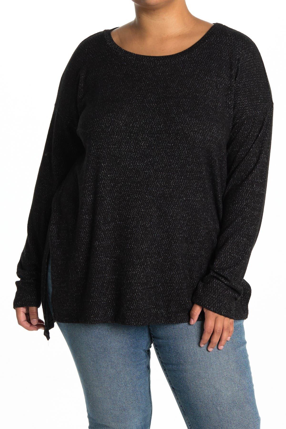 Image of Bobeau Long Sleeve High/Low Tunic