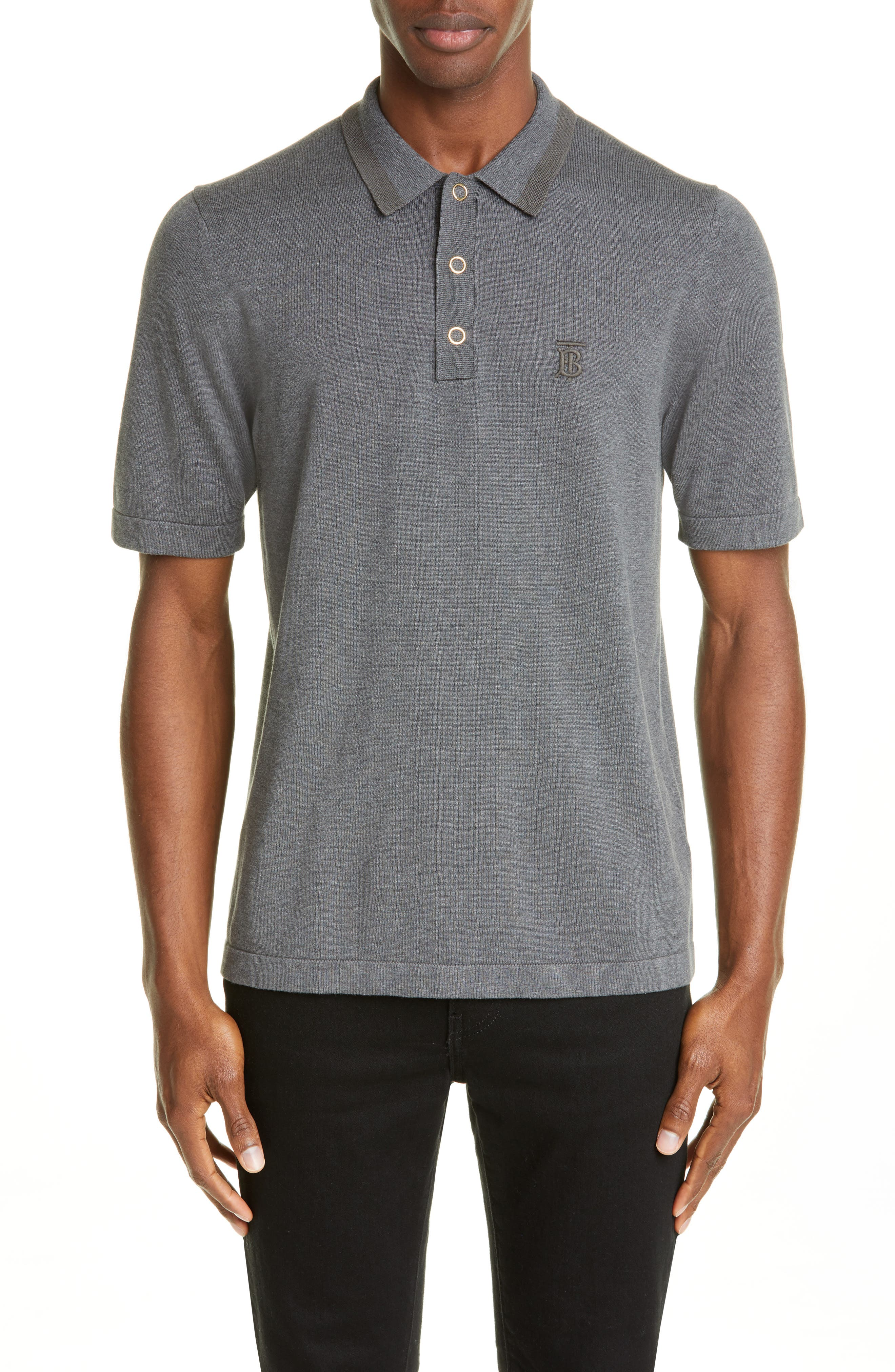 Snap Short Sleeve Jersey Polo by Burberry