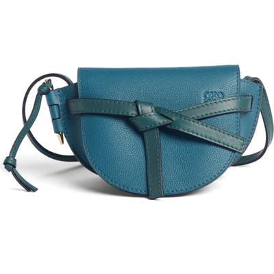Loewe Gate Mini Leather Crossbody Bag - Blue