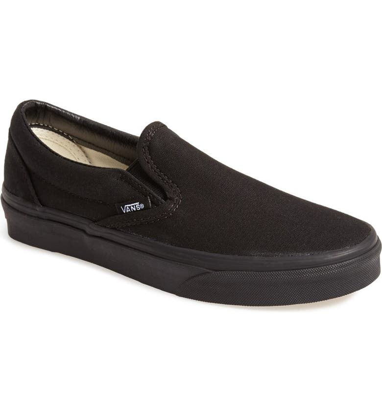 VANS 'Classic' Slip-On Sneaker, Main, color, BLACK/ BLACK
