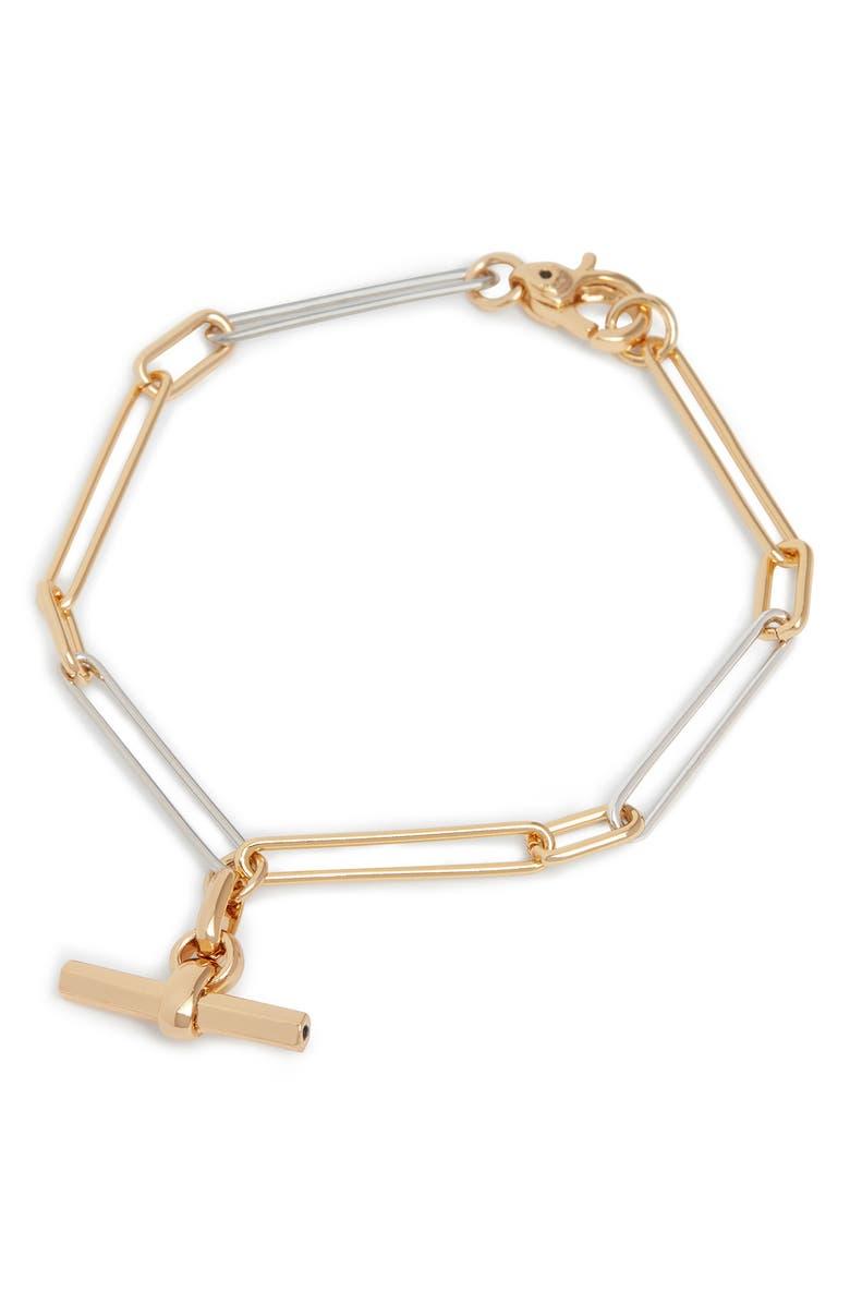 ALLSAINTS Mixed Link Chain Bracelet, Main, color, 710