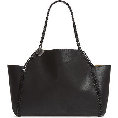 Stella Mccartney Falabella Small Reversible Faux Leather Tote - Black