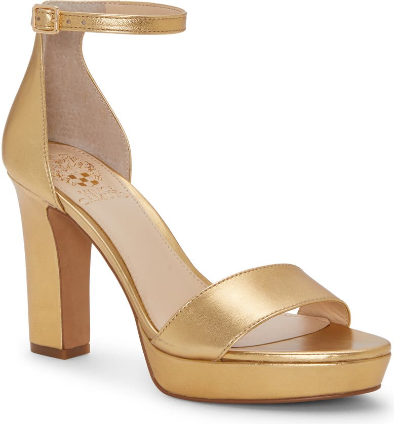 VINCE CAMUTO Sathina Sandal, Main, color, AZTEC GOLD LEATHER