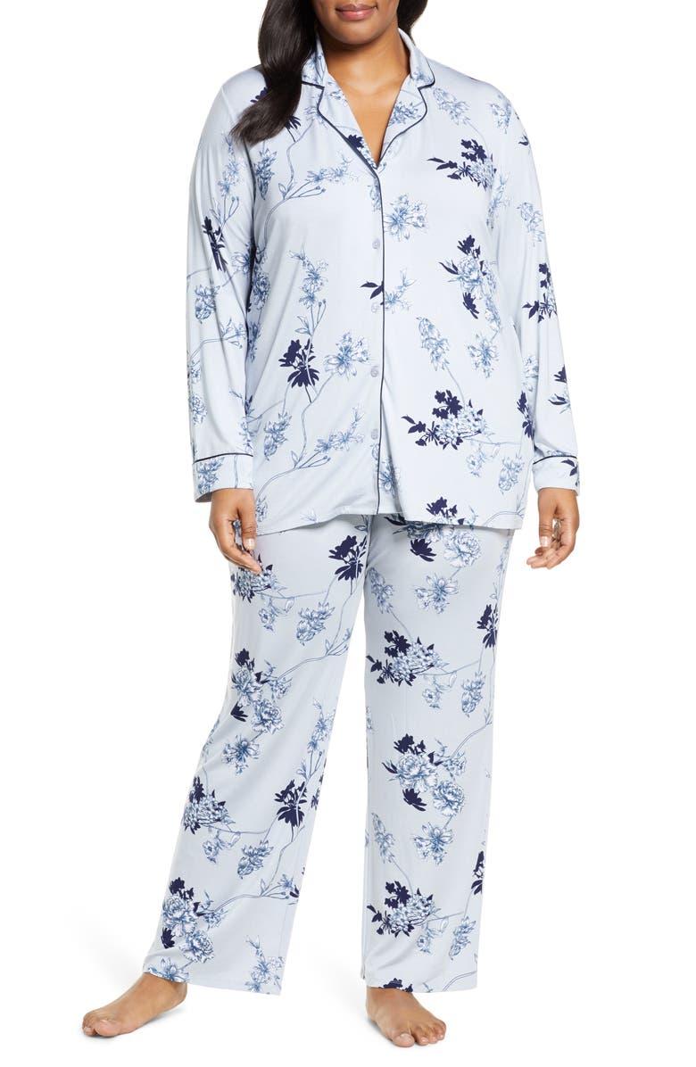 NORDSTROM LINGERIE 'Moonlight' Pajamas, Main, color, BLUE PEARL BOTANICAL TOILE