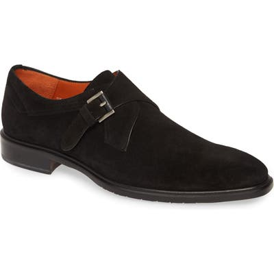Mezlan Praga Monk Strap Shoe- Black