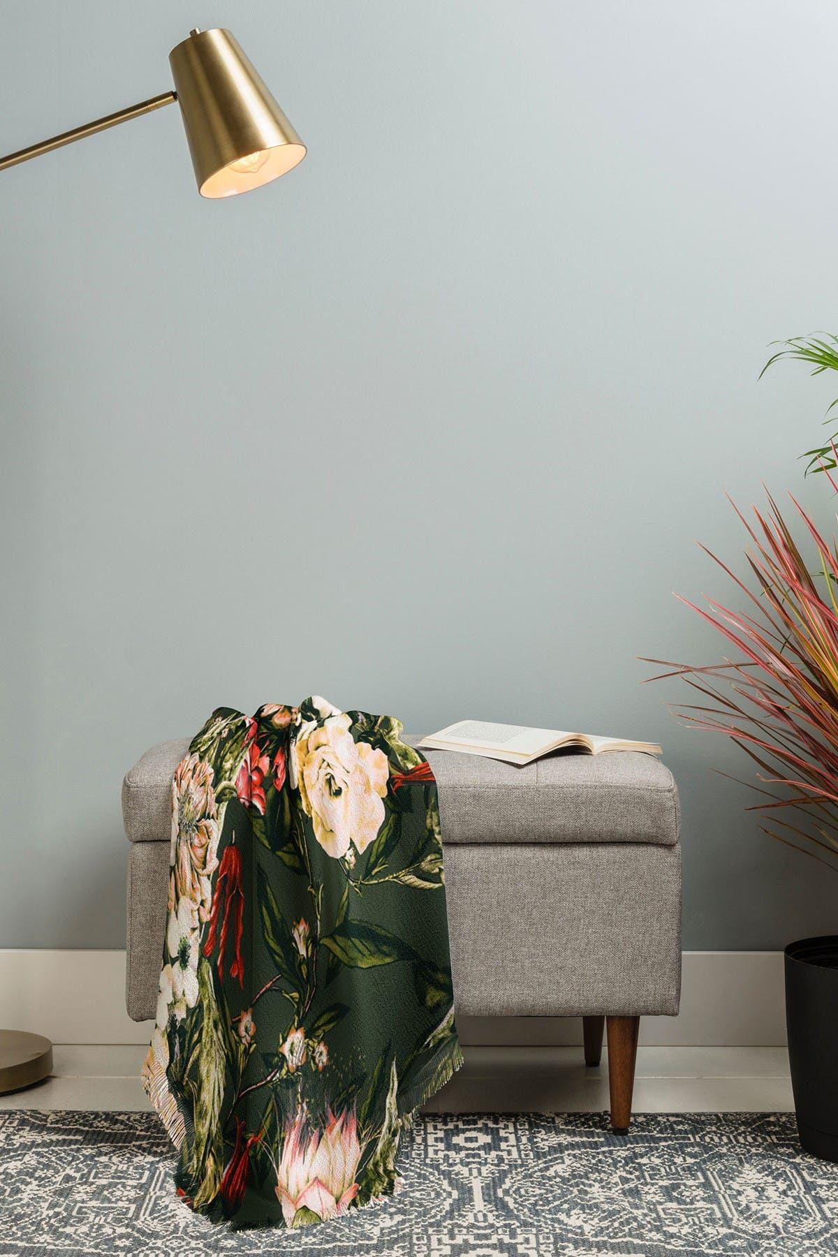 Image of Deny Designs Marta Barragan Camarasa Dark Wild Floral 03 Woven Throw Blanket