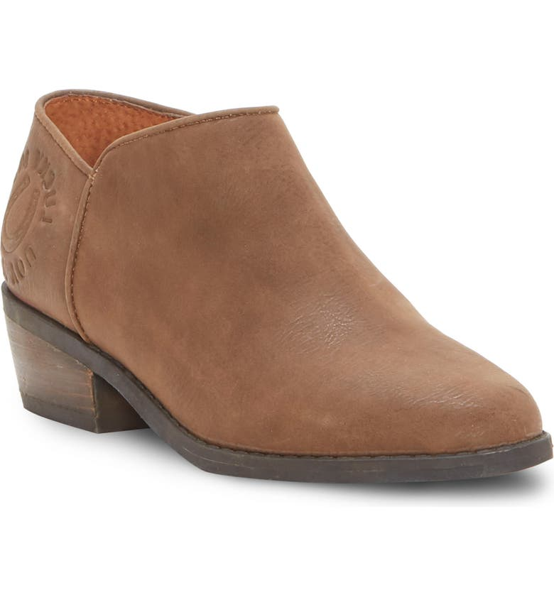LUCKY BRAND Faithly 2 Low Bootie, Main, color, BROWN