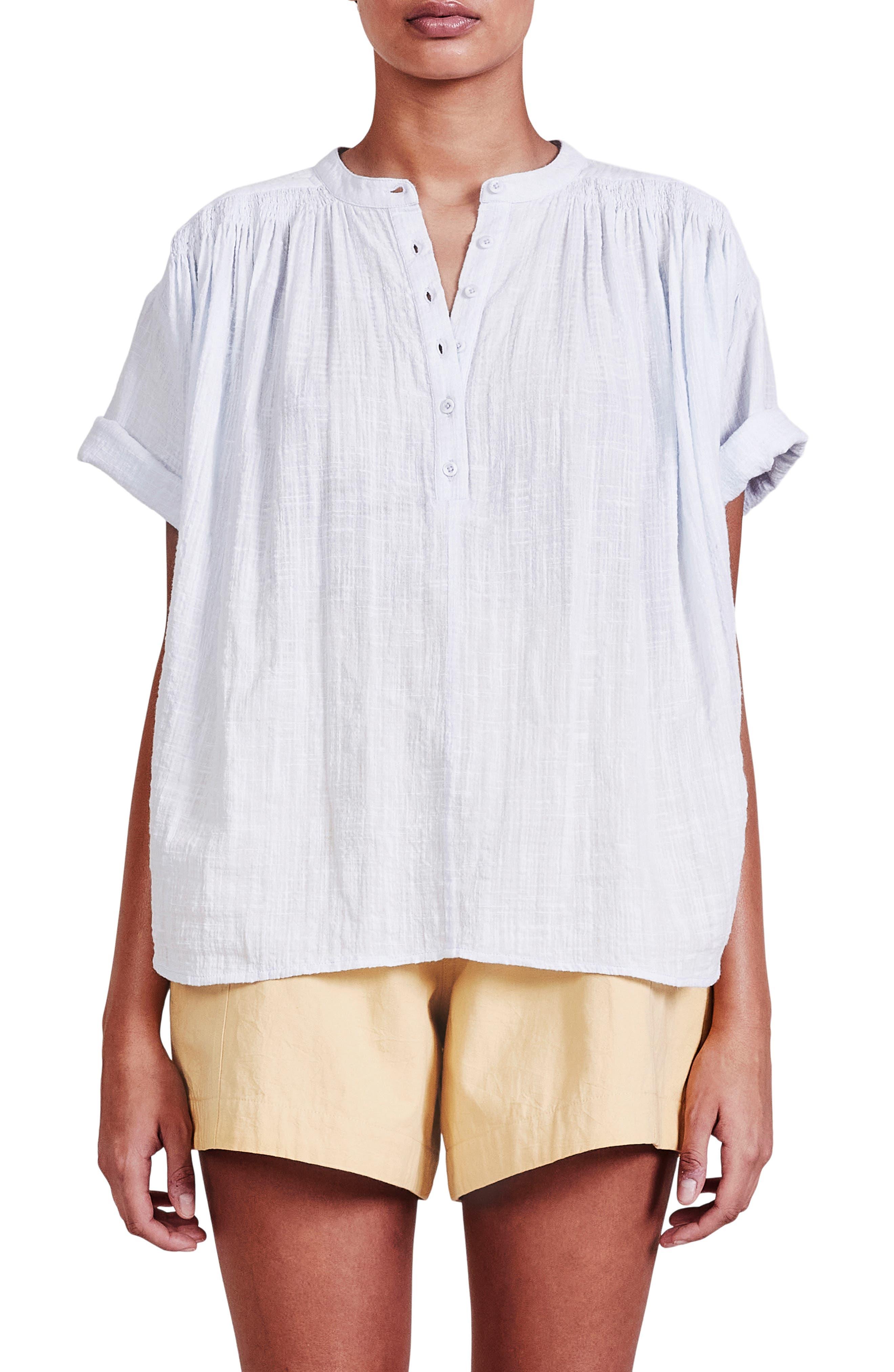 Mission Organic Cotton Shirred Top