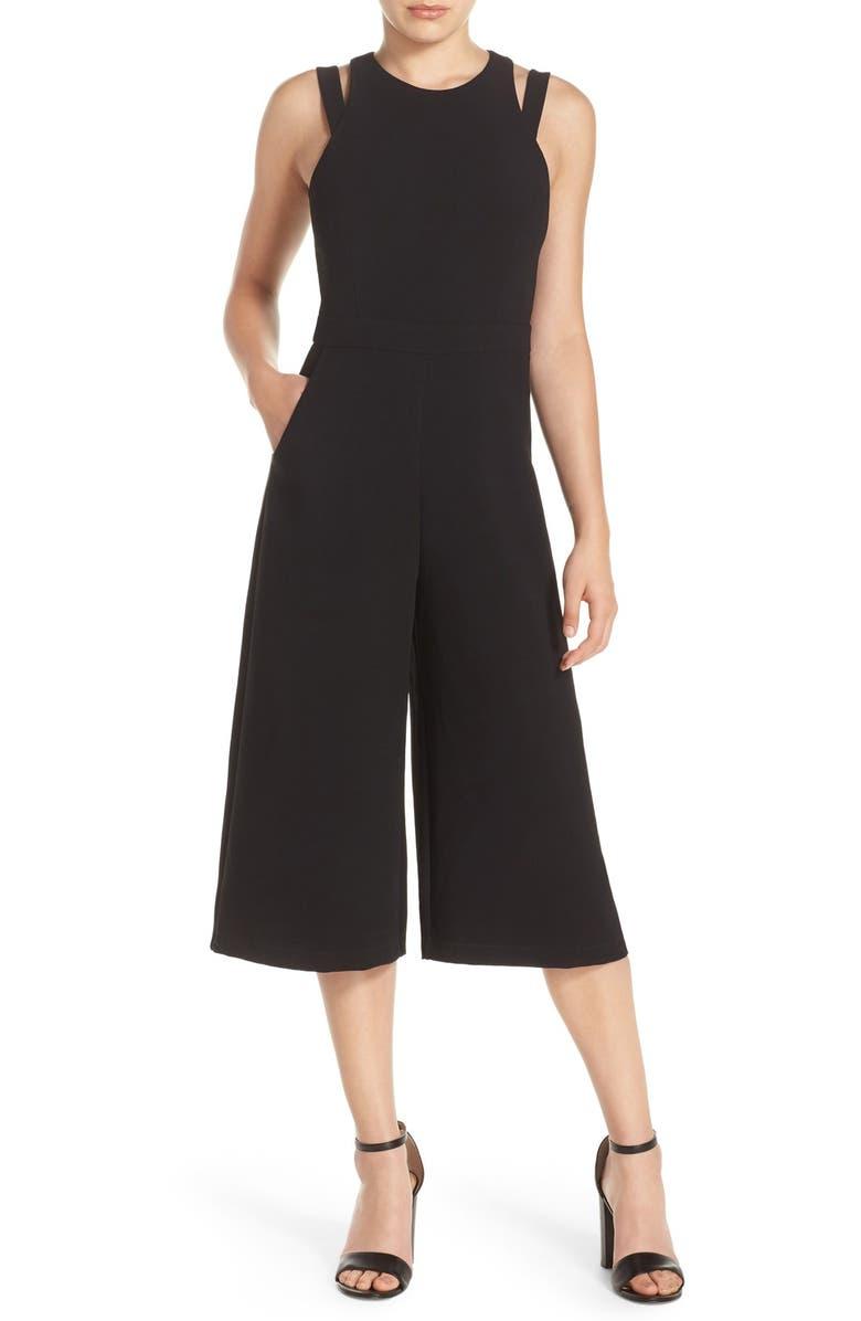 ADELYN RAE Culotte Jumpsuit, Main, color, 001