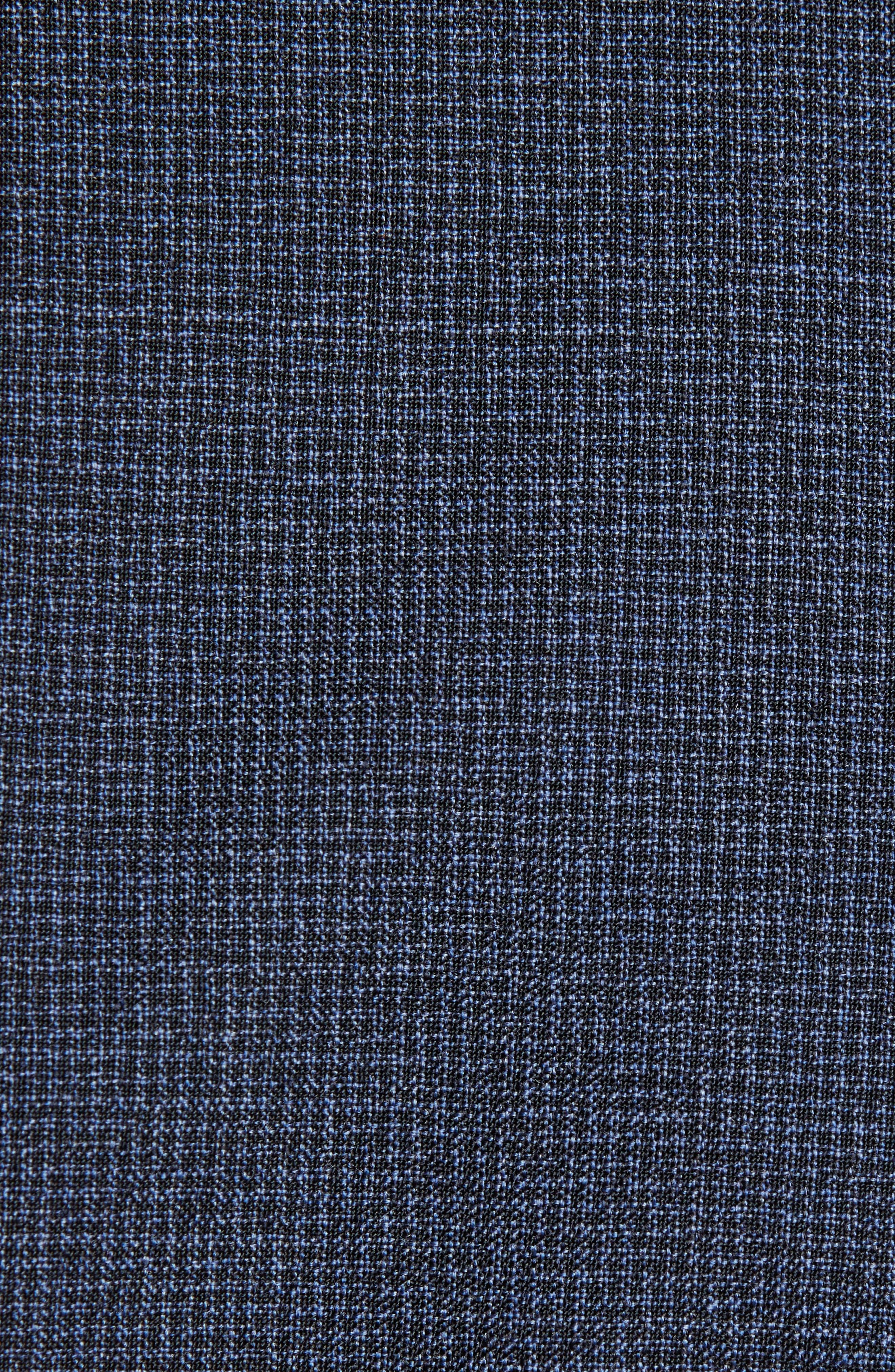 ,                             Jamonte Trim Fit Houndstooth Wool Blazer,                             Alternate thumbnail 6, color,                             BLUE