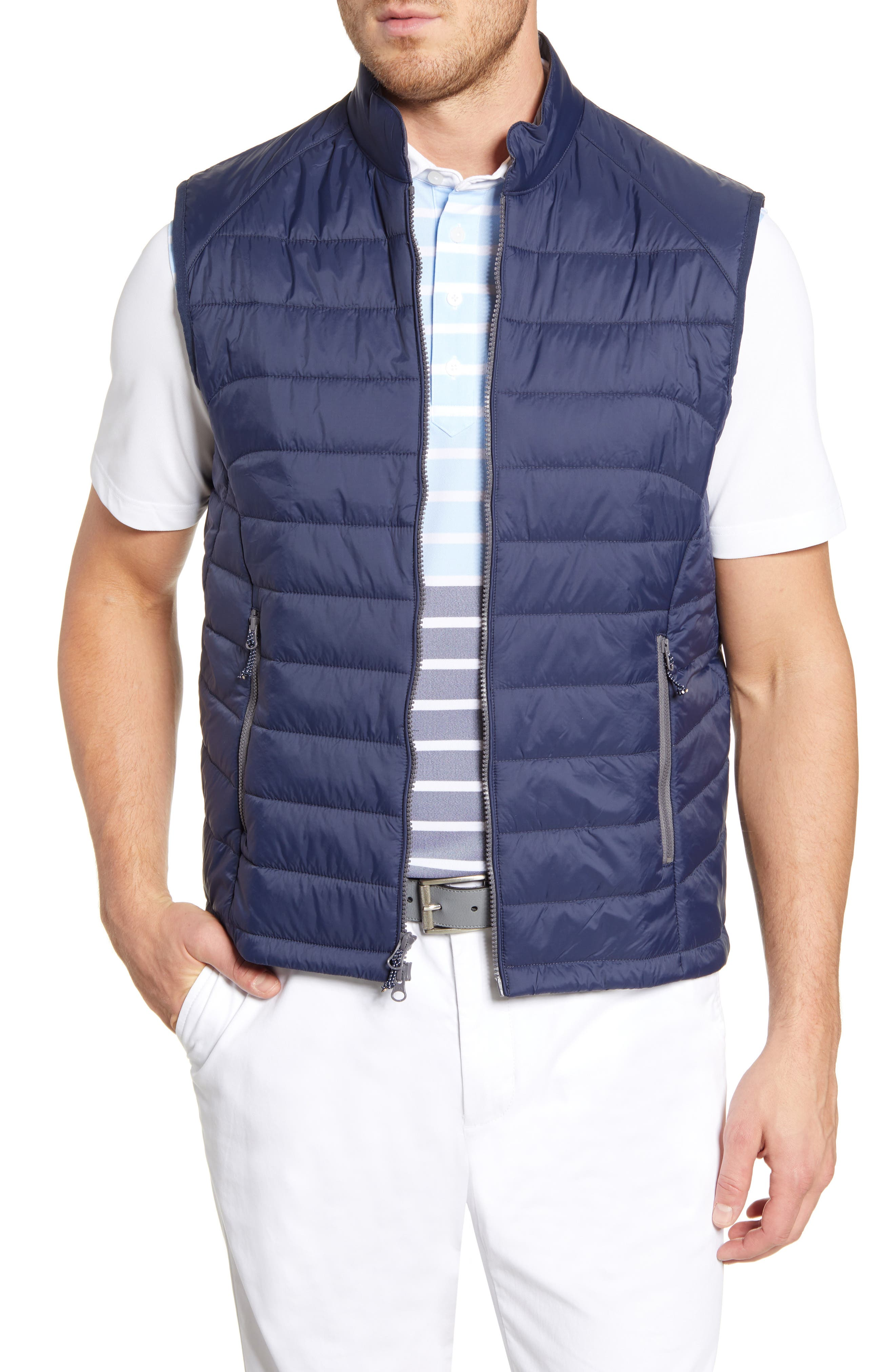 Johnnie-O Straits Quilted Vest, Blue