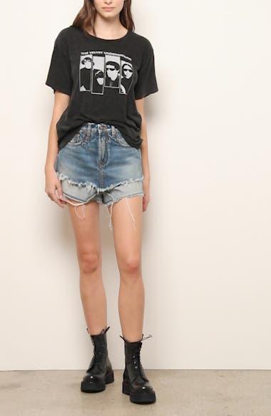 Crossover Denim Shorts, video thumbnail