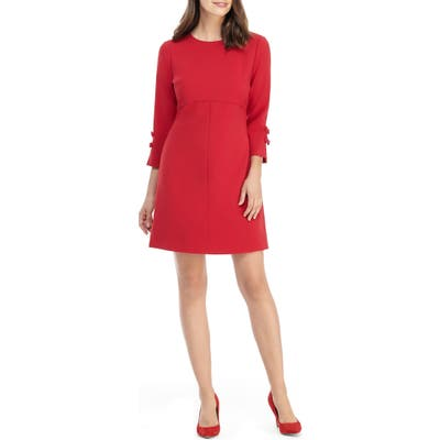 Gal Meets Glam Collection Tatiana Bow Sleeve Sheath Dress, Red