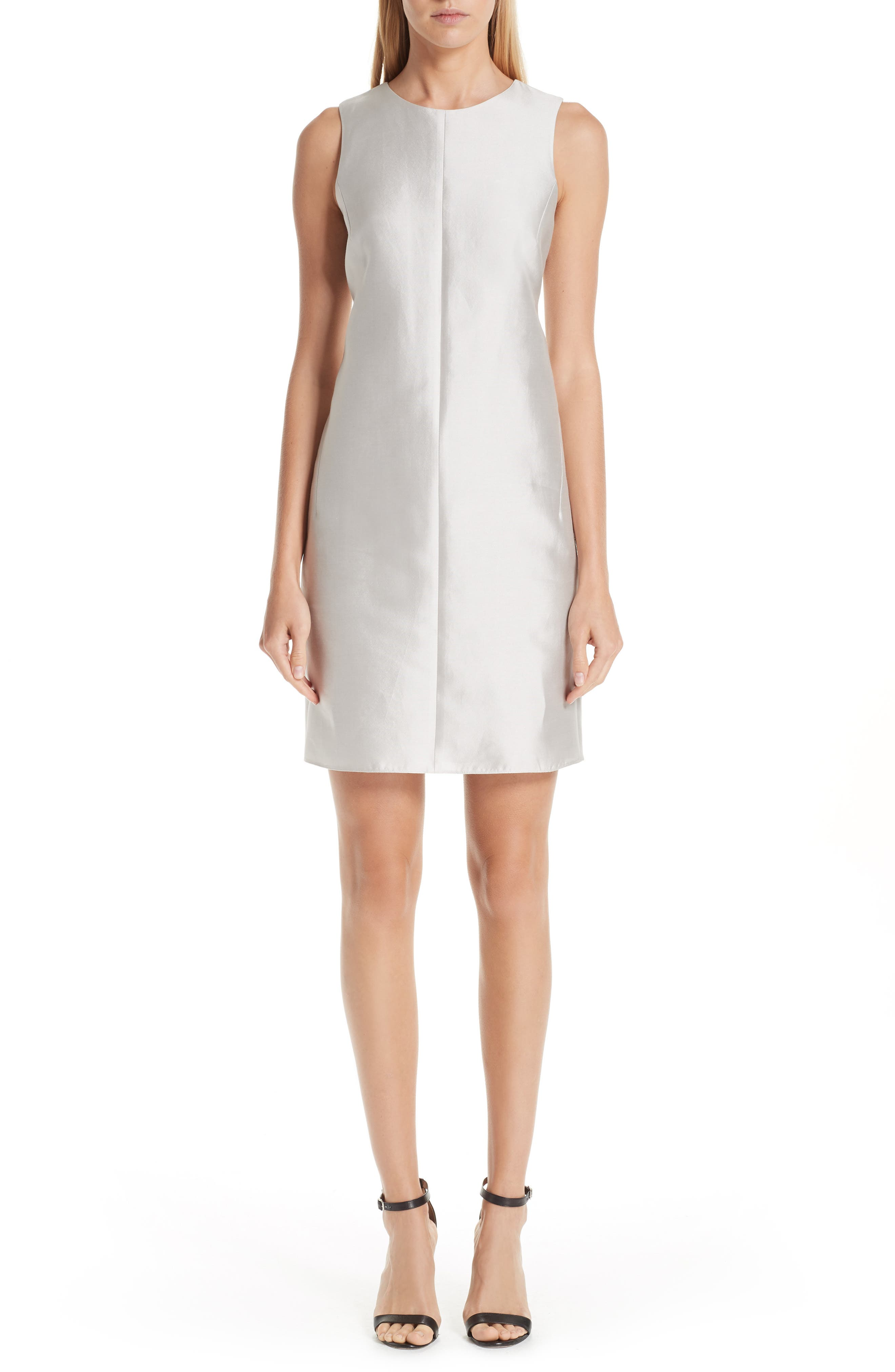 Emporio Armani Woven Shift Dress, US / 52 IT - Beige