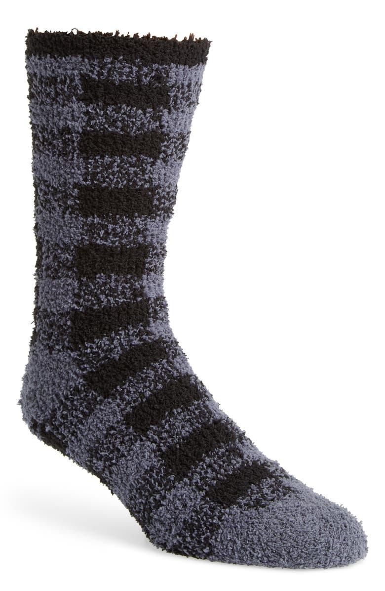 NORDSTROM MEN'S SHOP Nordstrom Mens Shop Buffalo Check Butter Socks, Main, color, 021