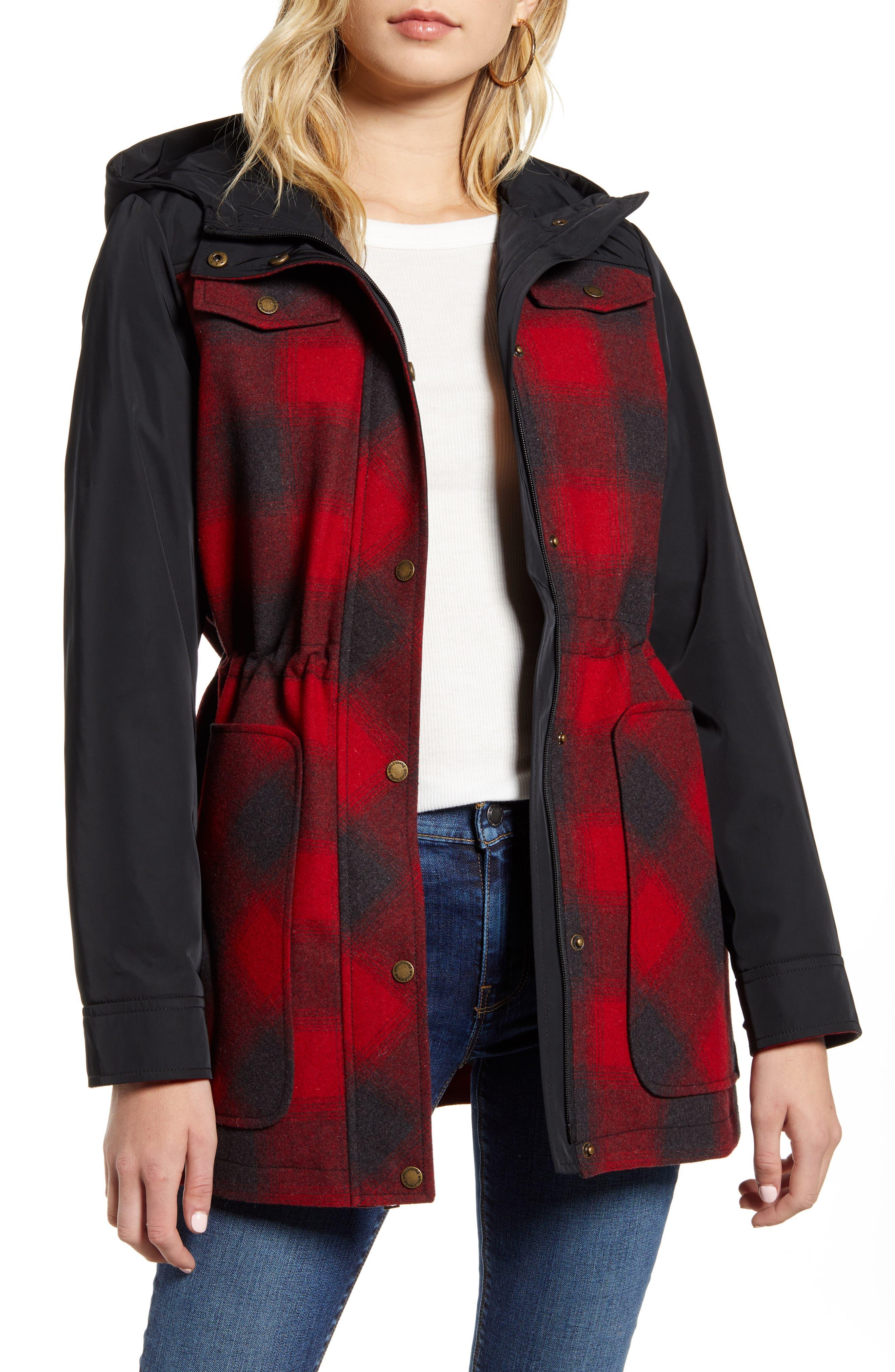 Pendleton Hayden Water Repellent Hooded Flannel Jacket Nordstrom Rack [ 4048 x 2640 Pixel ]