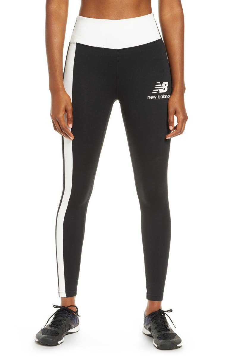 NEW BALANCE Relentless High Waist 7/8 Run Tights, Main, color, 001
