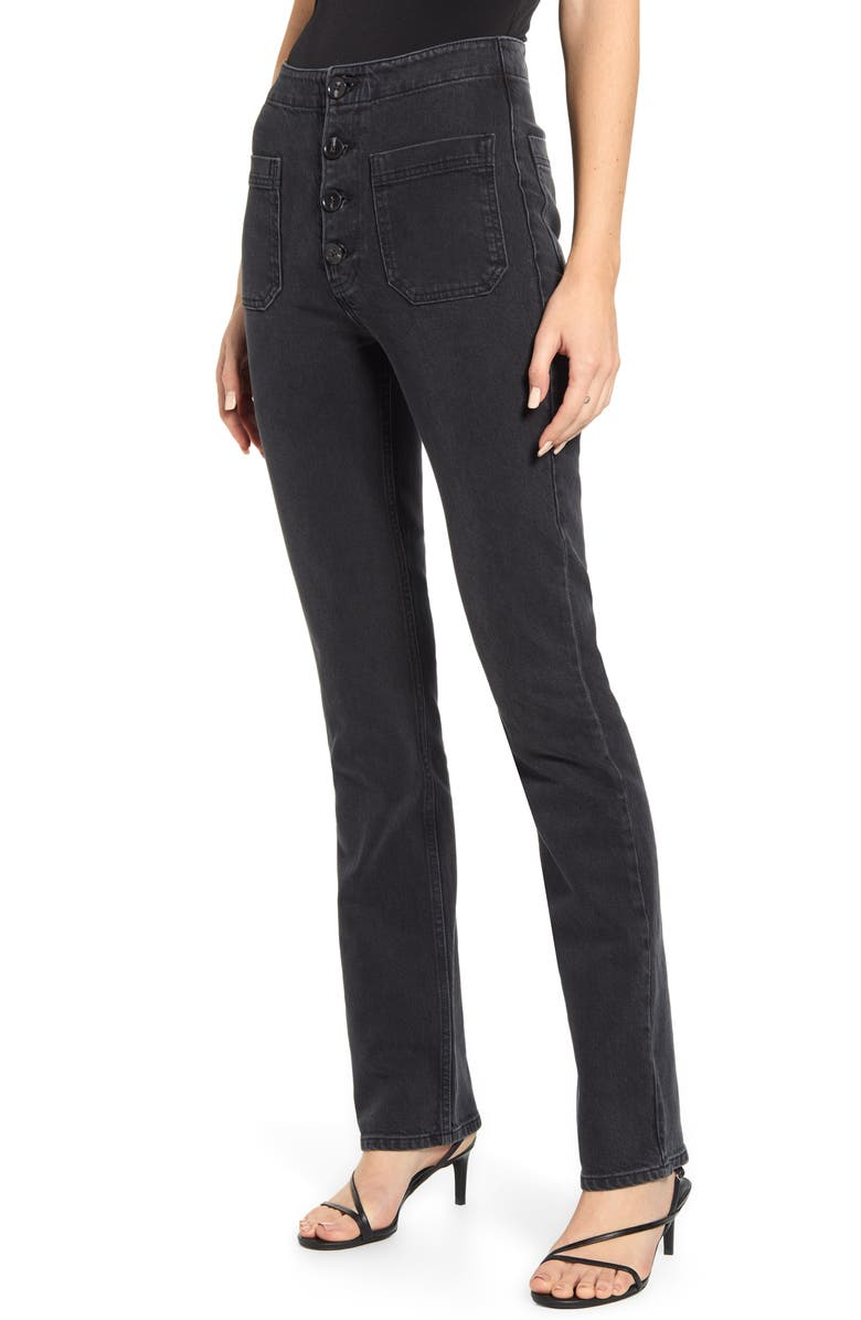 REFORMATION Elsie High Waist Straight Leg Jeans, Main, color, MOJAVE