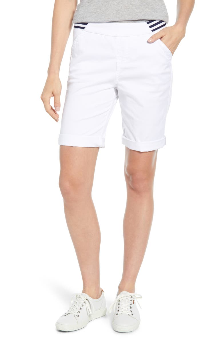 JAG JEANS Gracie Bermuda Shorts, Main, color, WHITE