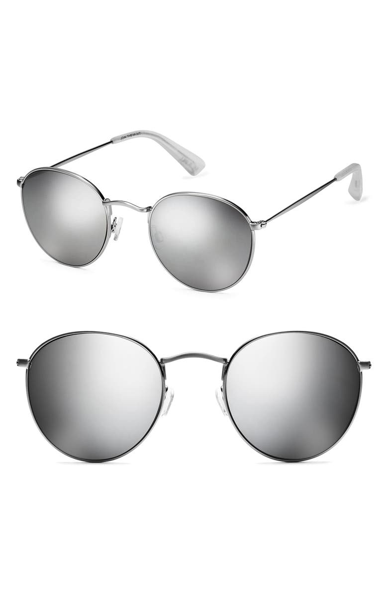 MVMT Icon 50mm Polarized Wire Sunglasses, Main, color, 040