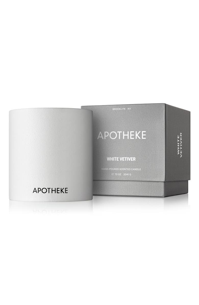 APOTHEKE 4-Wick Concrete Scented 72-Ounce Candle, Main, color, WHITE VETIVER